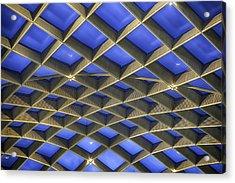 Curvilinear Skylight Structure  Acrylic Print by Lynn Palmer