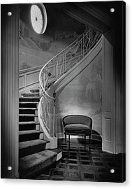 Curving Staircase In The Home Of  W. E. Sheppard Acrylic Print
