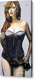 Curvy Beauties - Christina Hendricks Acrylic Print