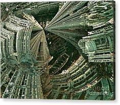 Curvy World Acrylic Print by Bernard MICHEL