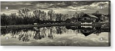 Cushwa Basin C And O Canal Black And White Acrylic Print by Joshua House