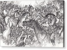 Custer's Clash Acrylic Print