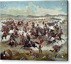 Custer's Last Charge Acrylic Print by Unknown