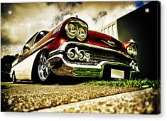 Custom Chevrolet Bel Air Acrylic Print by motography aka Phil Clark