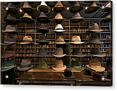 Custom Hats Acrylic Print by John Babis