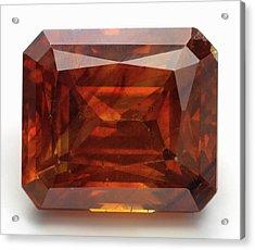 Cut Sphalerite Gemstone Acrylic Print