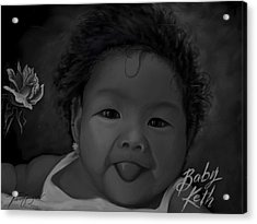 Cute Baby Acrylic Print by Twinfinger