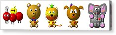 Cute Critters With Heart A To E Acrylic Print by Rose Santuci-Sofranko