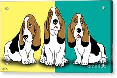 Cute Dogs  Acrylic Print by Mark Ashkenazi