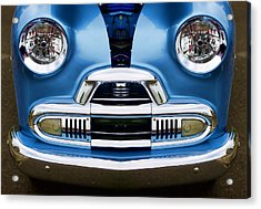 Cute Little Car Faces Number 4 Acrylic Print
