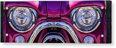 Cute Little Car Faces Number 7 Acrylic Print