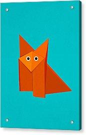 Cute Origami Fox Acrylic Print