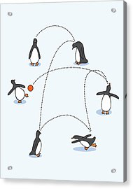 Cute Penguin Art Acrylic Print by Christy Beckwith