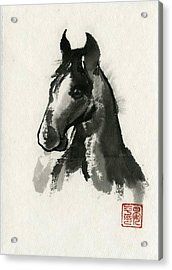 Acrylic Print featuring the painting Cutie by Ping Yan