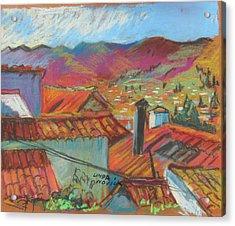 Cuzco Rooftops Acrylic Print