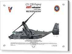 Acrylic Print featuring the digital art Cv-22b Osprey by Arthur Eggers