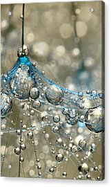 Cyan And Gold Acrylic Print