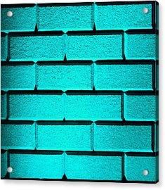 Cyan Wall Acrylic Print by Semmick Photo