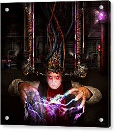 Cyberpunk - Mad Skills Acrylic Print by Mike Savad