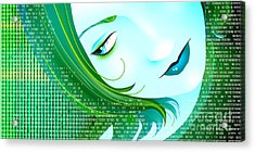 Cyberpunk Acrylic Print by Sandra Hoefer
