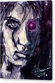Acrylic Print featuring the painting Cyborg by Jim Vance