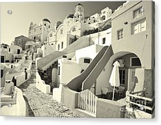Acrylic Print featuring the photograph Cycladic Style Houses by Aiolos Greek Collections