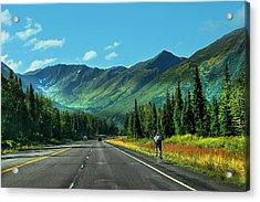 Cycling In Denali   Acrylic Print