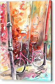 Cycling In Italy 02 Acrylic Print by Miki De Goodaboom
