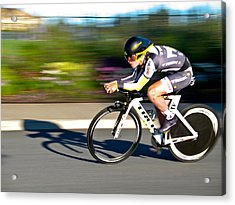 Acrylic Print featuring the photograph Cycling Prologue by Kevin Desrosiers