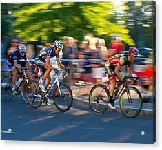Acrylic Print featuring the photograph Cycling Pursuit by Kevin Desrosiers