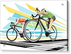 Cycling Sprint Poster Print Finish Line Acrylic Print by Sassan Filsoof