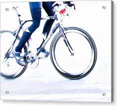 Cycling Acrylic Print by Theresa Tahara