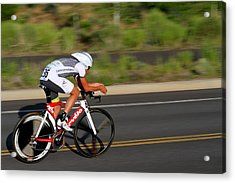 Acrylic Print featuring the photograph Cycling Time Trial by Kevin Desrosiers