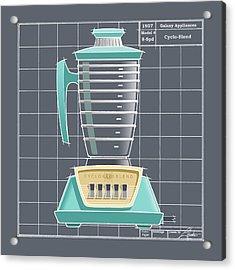 Cyclo-blend - Aqua Acrylic Print