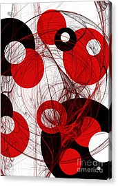Cyclone Circle Abstract Acrylic Print by Andee Design