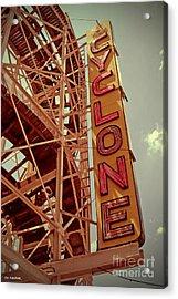 Cyclone Roller Coaster - Coney Island Acrylic Print