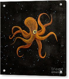 Cycloptopus Black Acrylic Print by Stefanie Forck