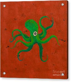 Cycloptopus Red Acrylic Print by Stefanie Forck
