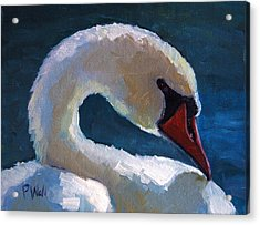 Acrylic Print featuring the painting Cygnus by Pattie Wall