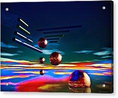 Cylinders And Spheres Acrylic Print by Ramon Martinez