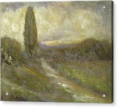 Cypress Landscape Acrylic Print