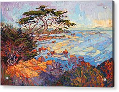 Acrylic Print featuring the painting Cypress Mosaic by Erin Hanson