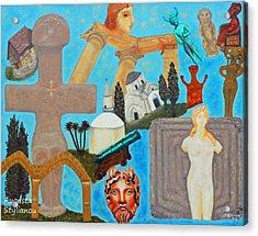 Cyprus History Acrylic Print by Augusta Stylianou