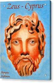 Cyprus - Zeus Acrylic Print by Augusta Stylianou