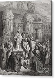 Cyrus Restoring The Vessels Of The Temple Acrylic Print by Gustave Dore