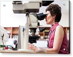 Cytology Laboratory Acrylic Print by Aberration Films Ltd