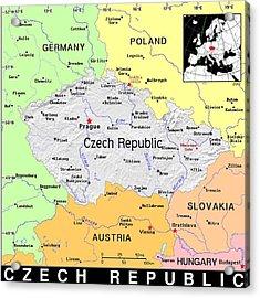 Czech Republic Acrylic Print by Florene Welebny