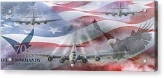 D-day 70th Anniversary Acrylic Print by Peter Chilelli