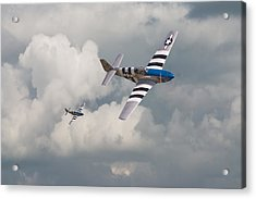 D-day Mustangs Acrylic Print