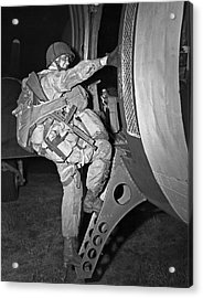 D-day Paratrooper Ready Acrylic Print